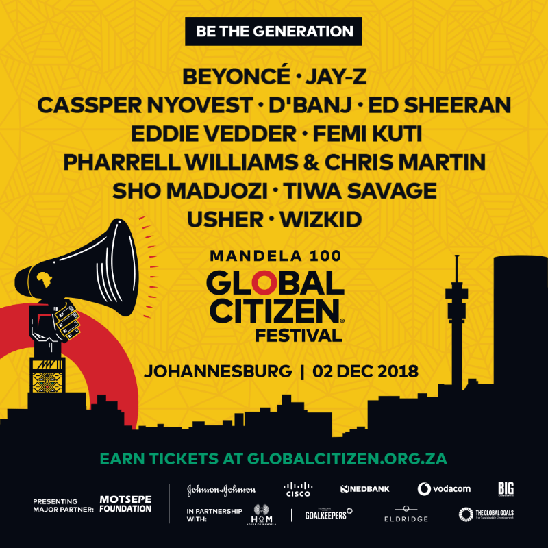 global citizen south africa 2018